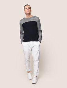 ARMANI EXCHANGE STRIPED YOKE POCKET SWEATER Pullover Man d