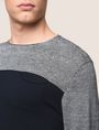 ARMANI EXCHANGE STRIPED YOKE POCKET SWEATER Pullover Man b