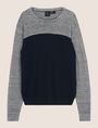 ARMANI EXCHANGE STRIPED YOKE POCKET SWEATER Pullover Man r