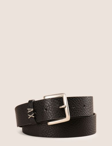 LETTER STUD TEXTURED BELT