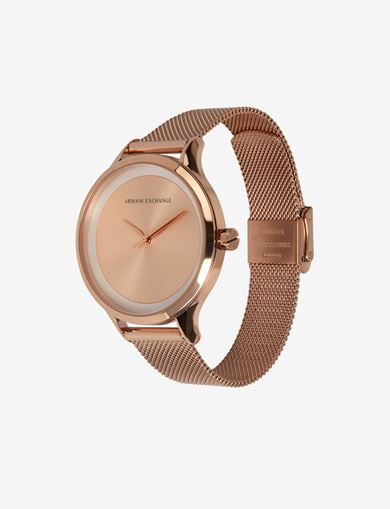 ROSE GOLD-TONED MESH BAND WATCH