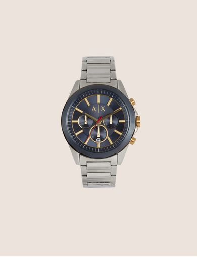 SILVER-TONED CHRONOGRAPH BRACELET WATCH