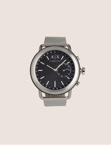 ARMANI EXCHANGE SILVER-TONED HYBRID SMARTWATCH Watch E f