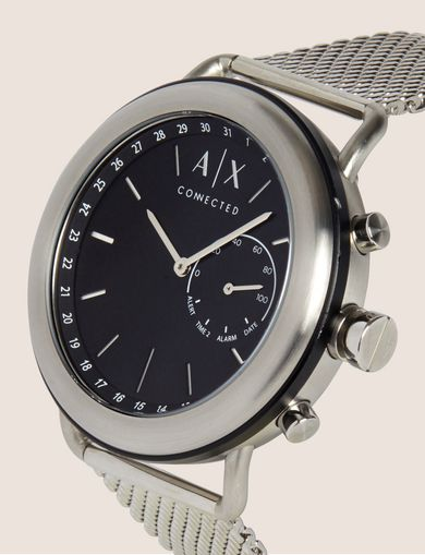 SILVER-TONED HYBRID SMARTWATCH