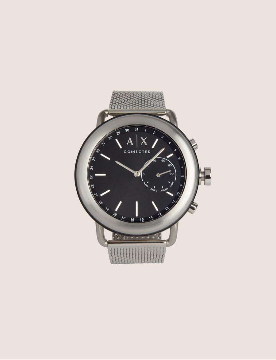 8c43a56aa80 ARMANI EXCHANGE SILVER-TONED HYBRID SMARTWATCH Hybrid Watch E f