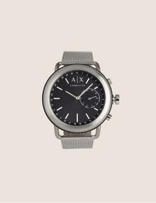 ARMANI EXCHANGE SILVER-TONED HYBRID SMARTWATCH Hybrid Watch E f