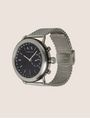 ARMANI EXCHANGE SILVER-TONED HYBRID SMARTWATCH Hybrid Watch E d