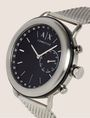 ARMANI EXCHANGE SILVER-TONED HYBRID SMARTWATCH Hybrid Watch E r