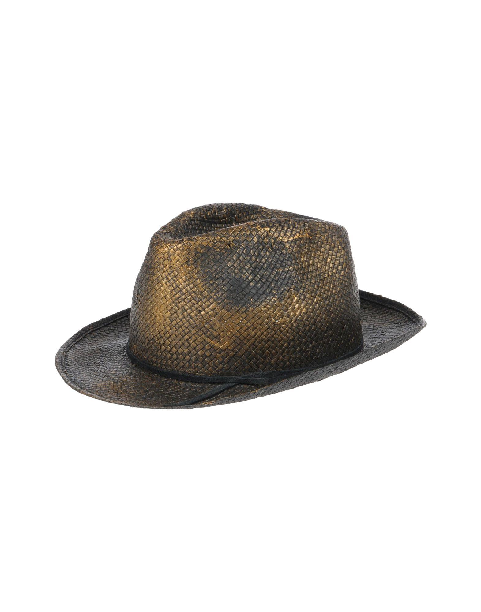《送料無料》MOVE OFFICINE DEL CAPPELLO レディース 帽子 ブロンズ 58 ストロー 100%