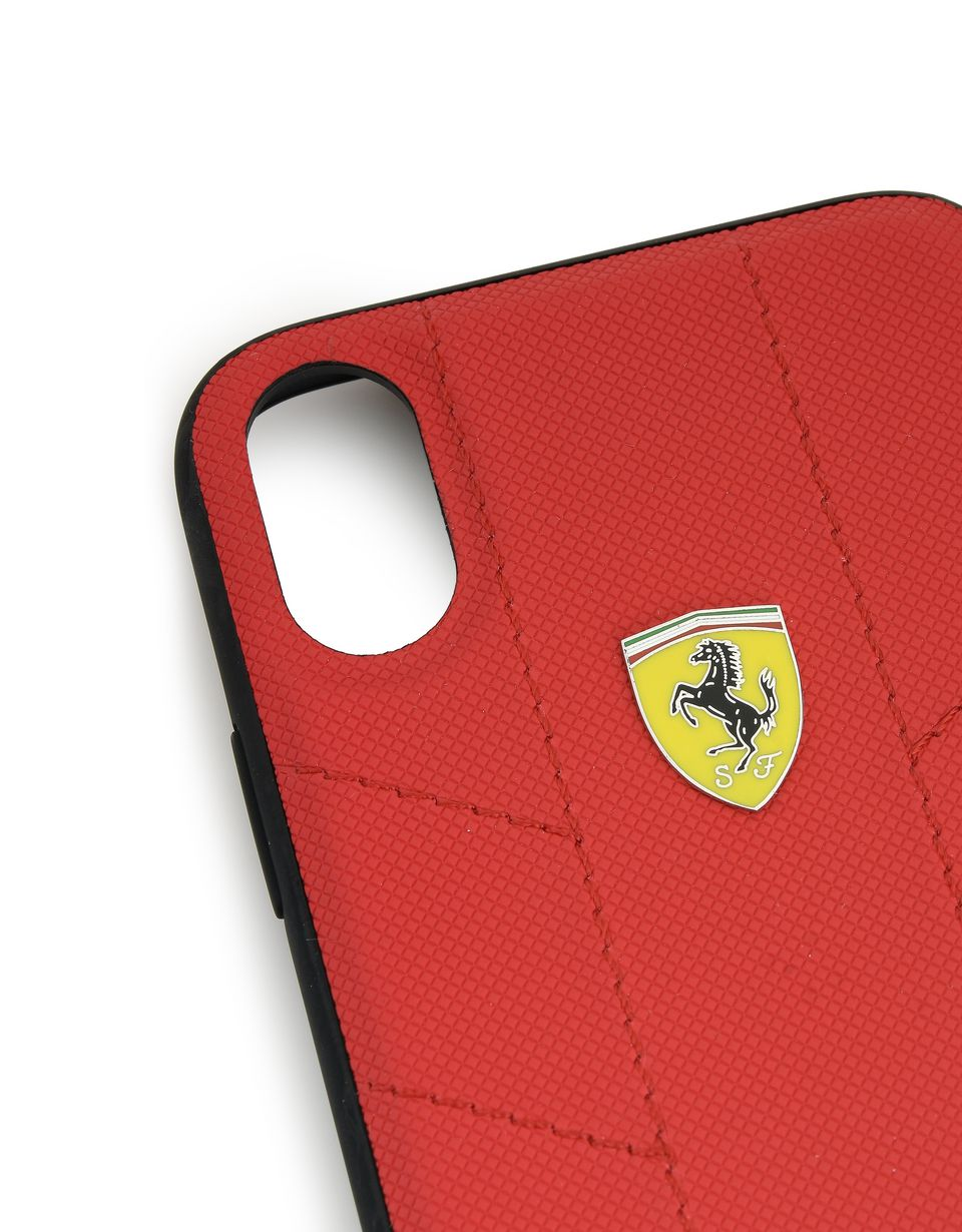 Scuderia Ferrari Online Store - Soft faux leather case for iPhone X - Cover&Other Small Leather Good