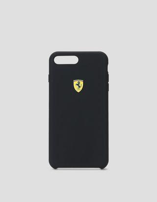 Scuderia Ferrari Online Store - iPhone 7 Plus 和 8 Plus 黑色硅胶硬质手机壳 - Cover&Other Small Leather Good