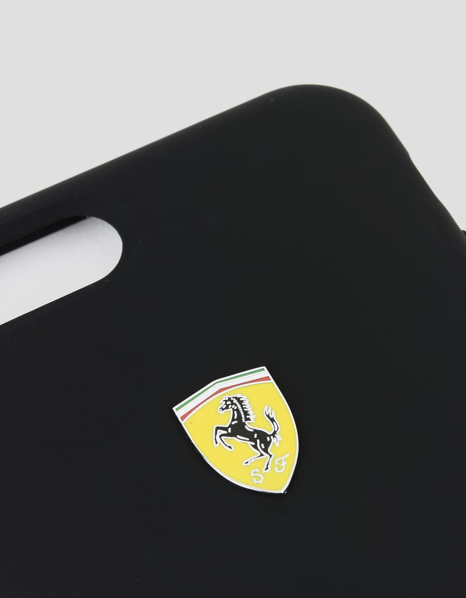 Scuderia Ferrari Online Store - Black silicone hard case for iPhone 7 Plus and 8 Plus - Cover&Other Small Leather Good