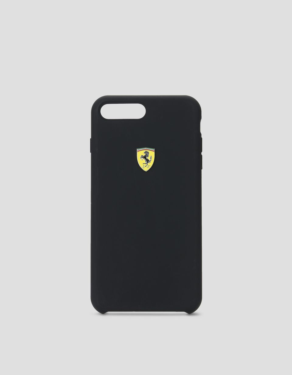 Scuderia Ferrari Online Store - Coque en silicone noir pour iPhone 7 Plus et iPhone 8 Plus - Cover&Other Small Leather Good