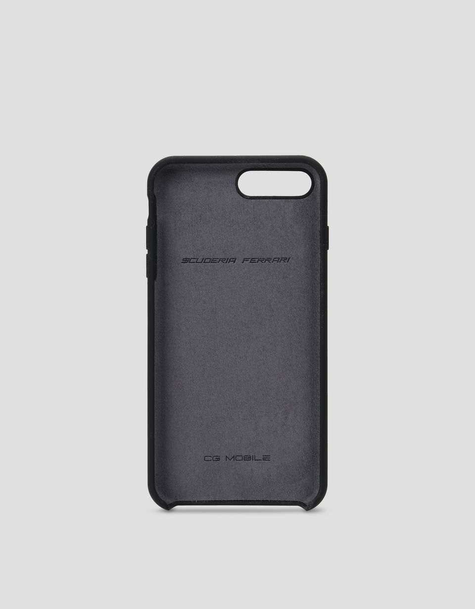 Scuderia Ferrari Online Store - Cover rigida nera in silicone per iPhone 7 Plus e 8 Plus - Cover&Other Small Leather Good