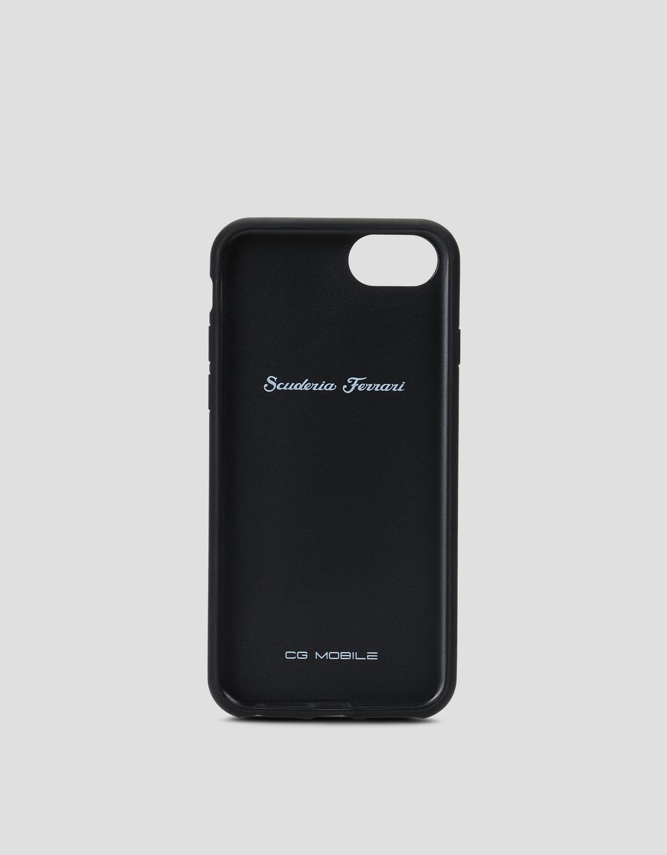 Scuderia Ferrari Online Store - Cover aus rotem Leder für iPhone 8 - Cover&Other Small Leather Good