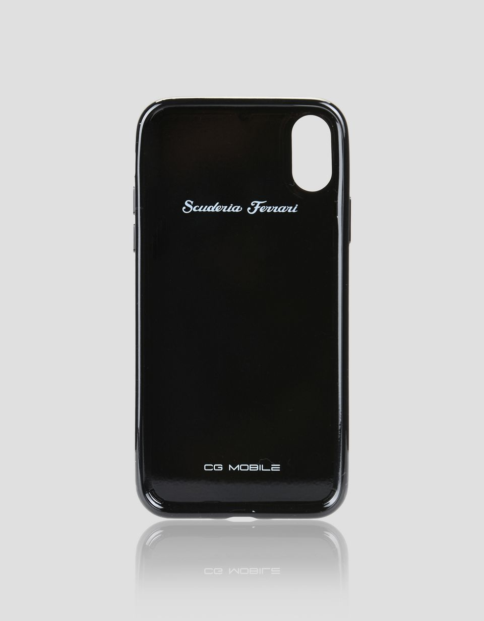 Scuderia Ferrari Online Store - Black carbon fibre case for iPhone X -