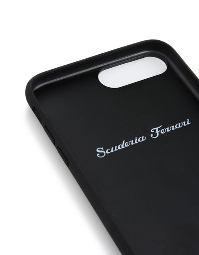 Scuderia Ferrari Online Store - Cover in pelle nera per iPhone 7 Plus e iPhone 8 Plus - Cover&Other Small Leather Good