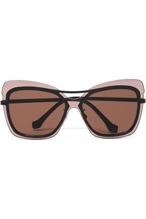 BALENCIAGA Butterfly-frame acetate sunglasses