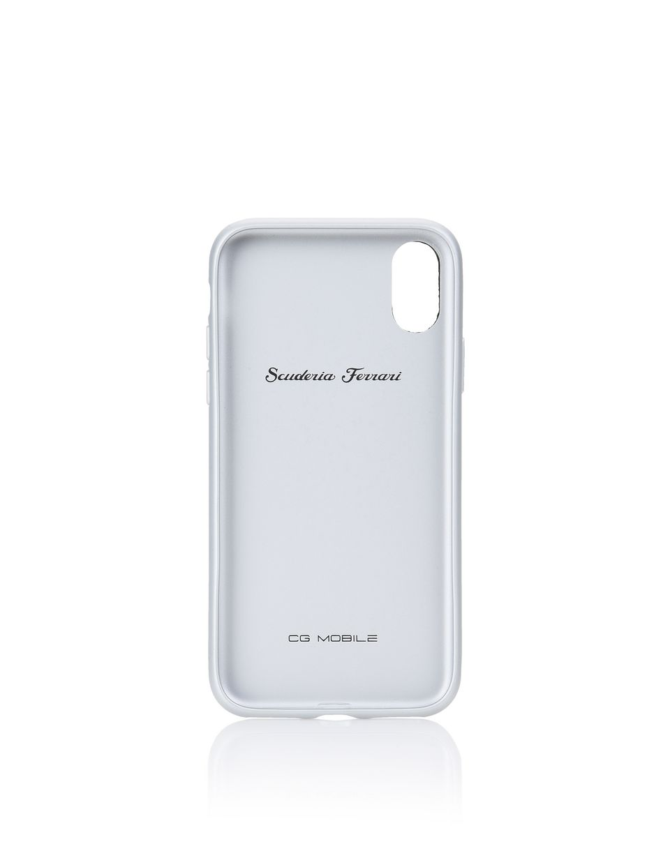 Scuderia Ferrari Online Store - Black leather and aluminium case for iPhone X - Cover&Other Small Leather Good