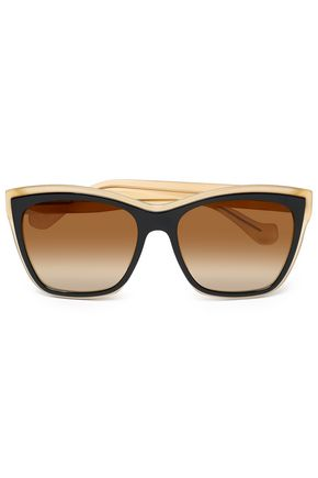 BALENCIAGA D-framed two-tone acetate sunglasses