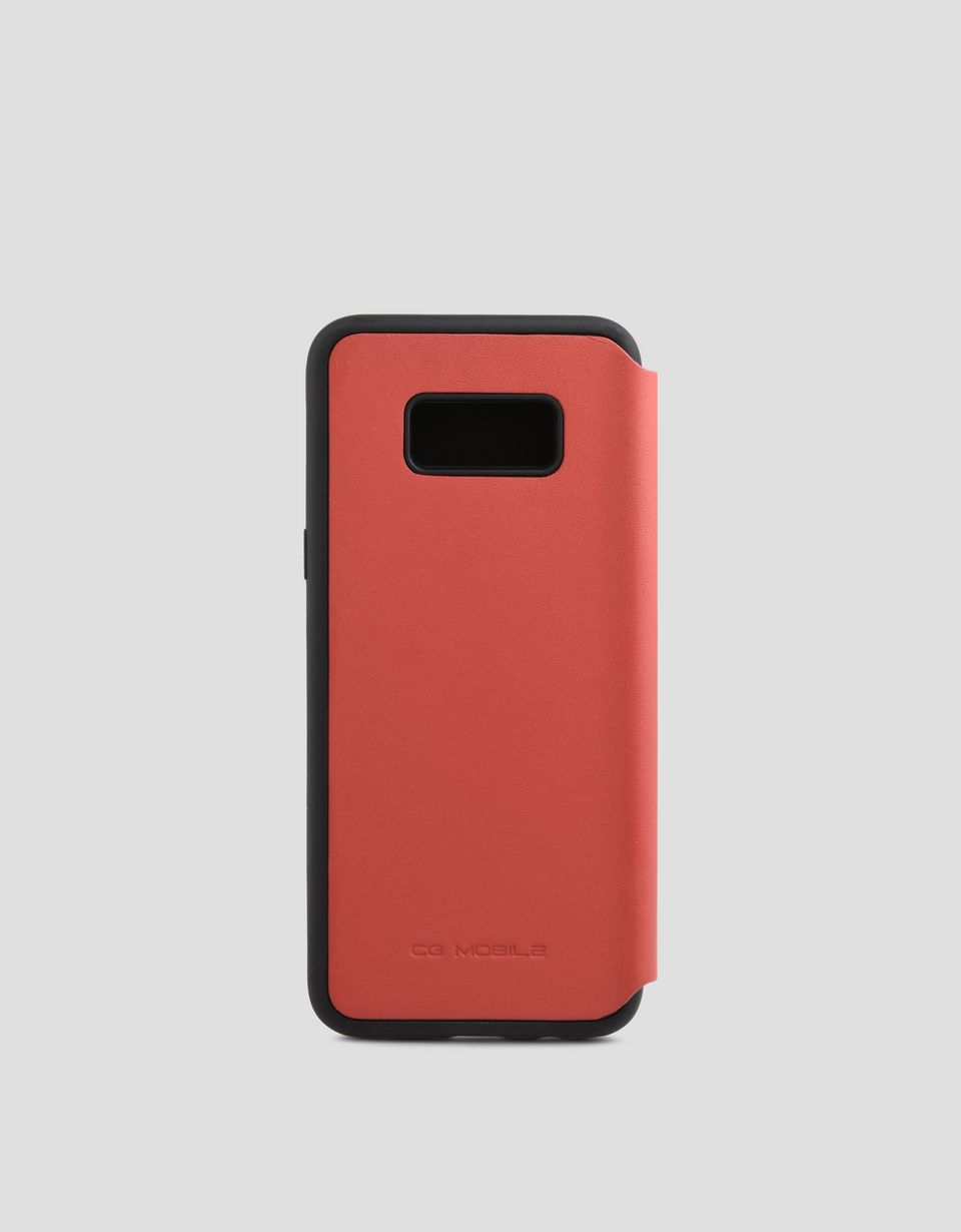Scuderia Ferrari Online Store - Red leather bi-fold case for Galaxy 8 Plus -