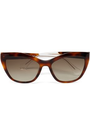 BALENCIAGA Cat-eye tortoiseshell acetate sunglasses