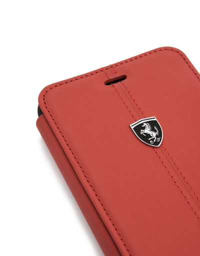 Scuderia Ferrari Online Store - Coque à rabat en cuir rouge pour iPhone 7 Plus et iPhone 8 Plus - Cover&Other Small Leather Good