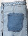 ARMANI EXCHANGE CONTRAST POCKET BUTTON-FRONT SKIRT Denim Skirt Woman b