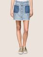 ARMANI EXCHANGE CONTRAST POCKET BUTTON-FRONT SKIRT Denim Skirt Woman f