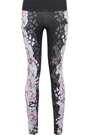 BODYISM Floral-print stretch-knit leggings