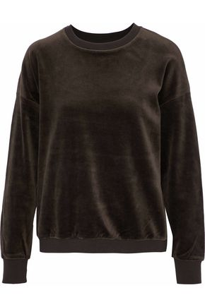 VINCE. Stretch-cotton velour sweatshirt