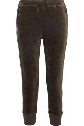 VINCE. Stretch-cotton velour track pants
