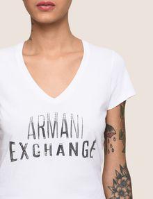 ARMANI EXCHANGE SEQUIN STITCH LOGO TEE Logo T-shirt Woman b