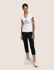 ARMANI EXCHANGE SEQUIN STITCH LOGO TEE Logo T-shirt Woman d