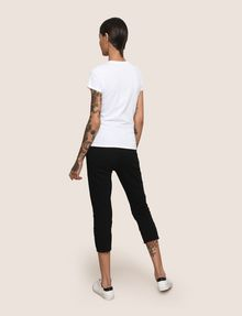 ARMANI EXCHANGE SEQUIN STITCH LOGO TEE Logo T-shirt Woman e