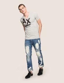 ARMANI EXCHANGE UTILITY LINES LOGO TEE Logo T-shirt Man d