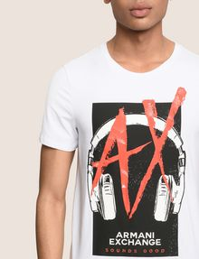 ARMANI EXCHANGE HEADPHONE LOGO GRAPHIC TEE Logo T-shirt Man b