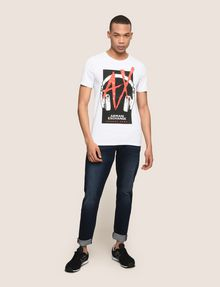 ARMANI EXCHANGE HEADPHONE LOGO GRAPHIC TEE Logo T-shirt Man d