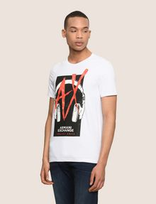 ARMANI EXCHANGE HEADPHONE LOGO GRAPHIC TEE Logo T-shirt Man f