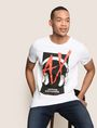ARMANI EXCHANGE HEADPHONE LOGO GRAPHIC TEE Logo T-shirt Man a