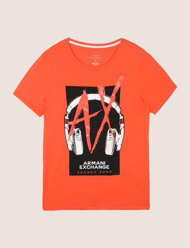 HEADPHONE LOGO GRAPHIC TEE
