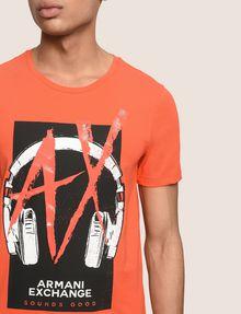 ARMANI EXCHANGE HEADPHONE LOGO GRAPHIC TEE Logo T-shirt Man b