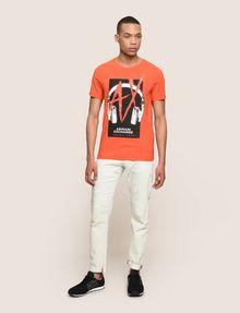 ARMANI EXCHANGE HEADPHONE LOGO GRAPHIC TEE Logo T-shirt Man d