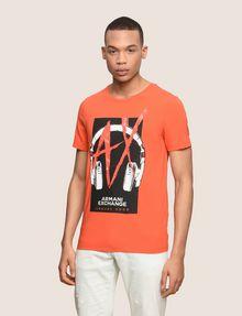 ARMANI EXCHANGE HEADPHONE LOGO GRAPHIC TEE Logo T-shirt Man f