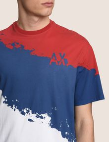 ARMANI EXCHANGE TRICOLOR PAINT LOGO TEE Non-logo Tee Man b