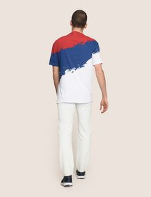 ARMANI EXCHANGE TRICOLOR PAINT LOGO TEE Non-logo Tee Man e