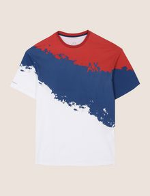 ARMANI EXCHANGE TRICOLOR PAINT LOGO TEE Non-logo Tee Man r