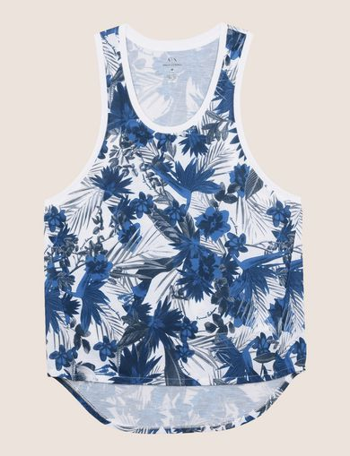 TROPICAL FLORAL SCOOP TANK