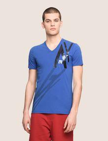 ARMANI EXCHANGE CAST A SHADOW V-NECK TEE Logo T-shirt Man f
