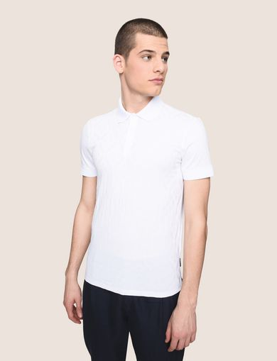 LOGO DIAMOND JACQUARD POLO